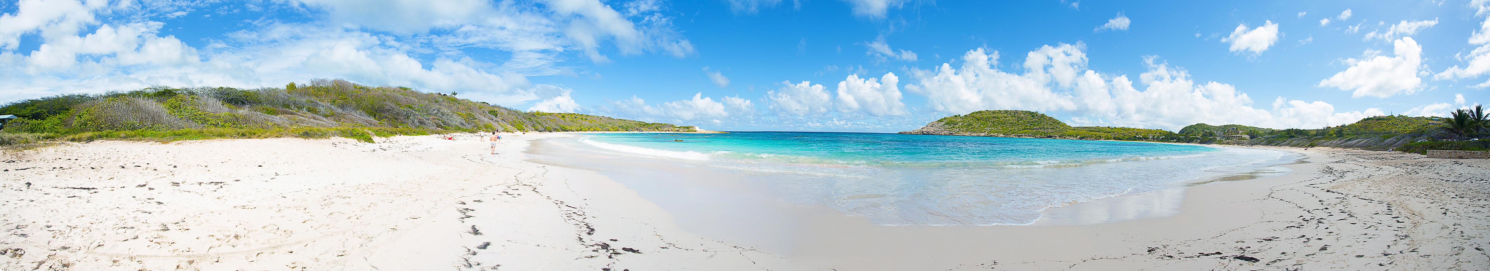 Beach panoramic photography