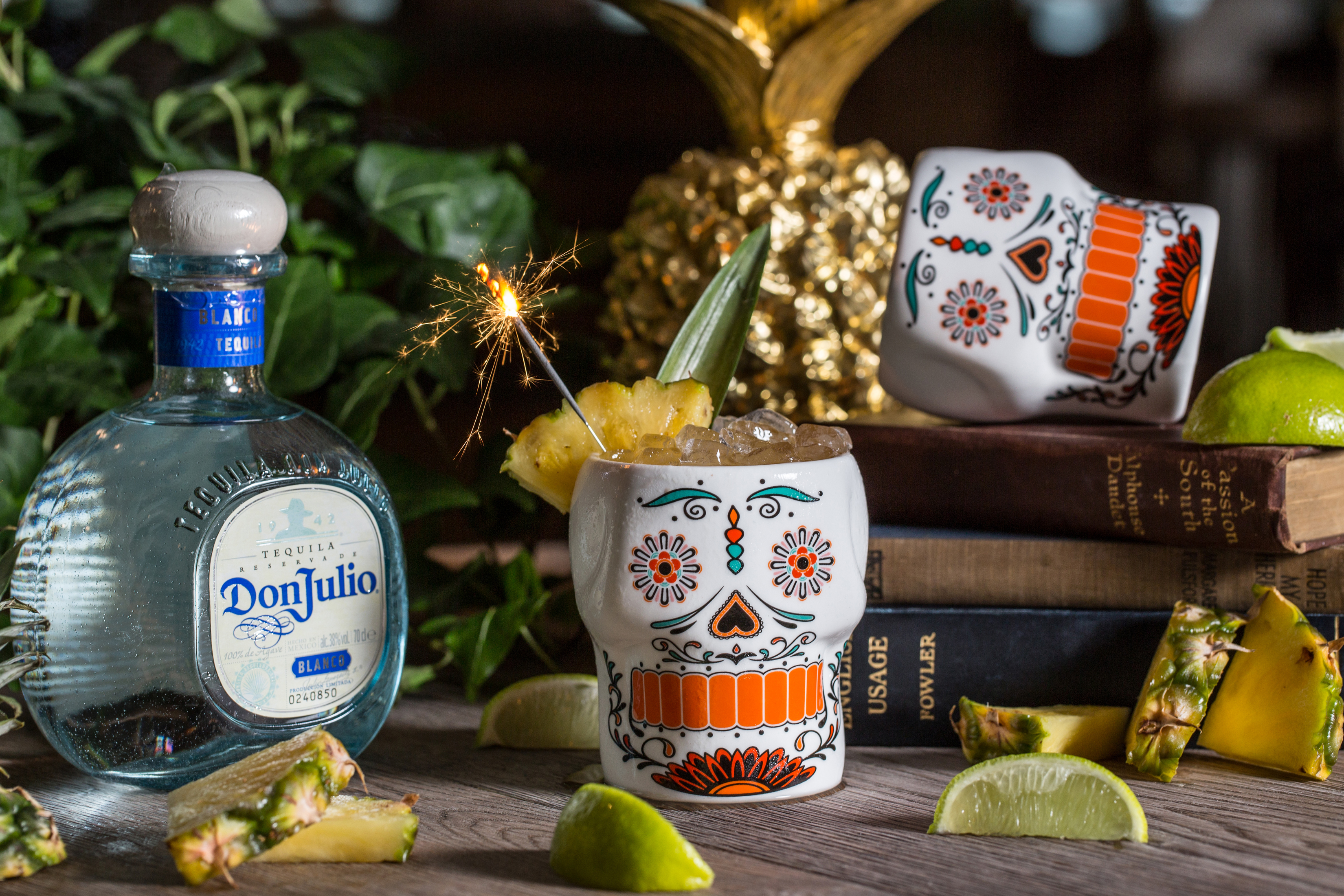 cocktail with Don julio tequila and sparklers