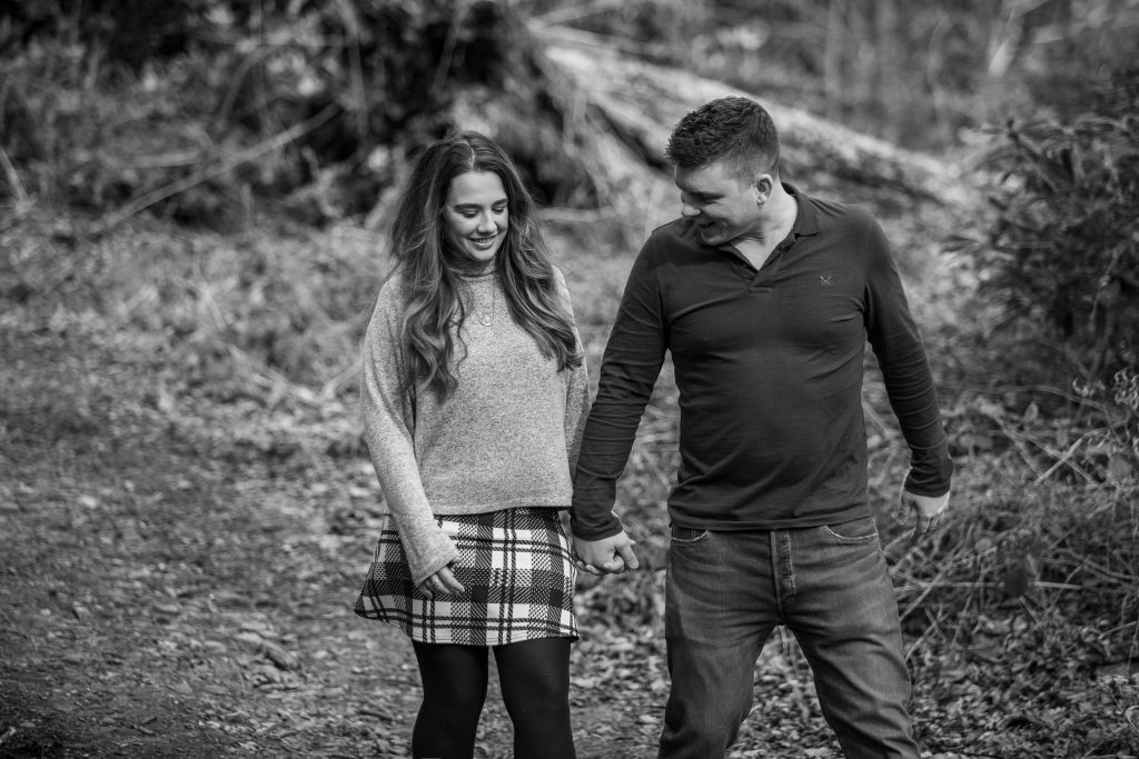 engagement photography black and white