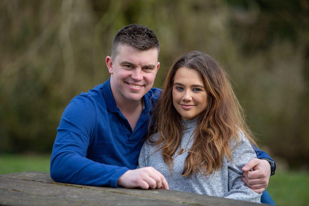 engagement photographs happy couple